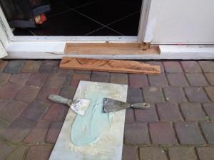 Klaarmaken houtrotpasta